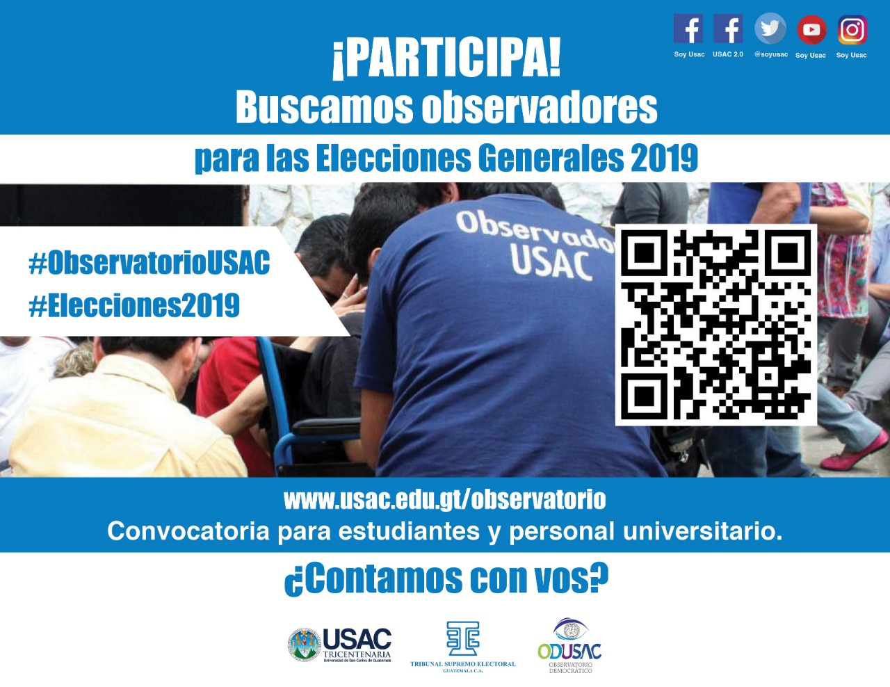 Inscribete como observador o voluntario